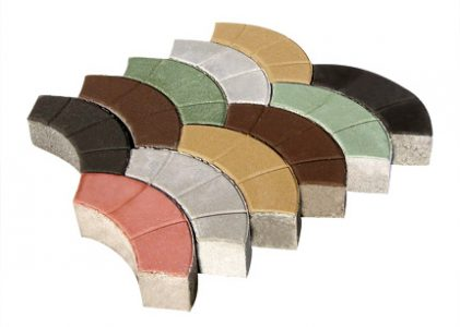 """Павета от пресован бетон """"Дъга""""с дебелина 8 см."""