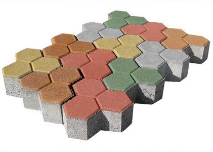 """Павета от пресован бетон """"Пчелна пита""""с дебелина 8 см."""